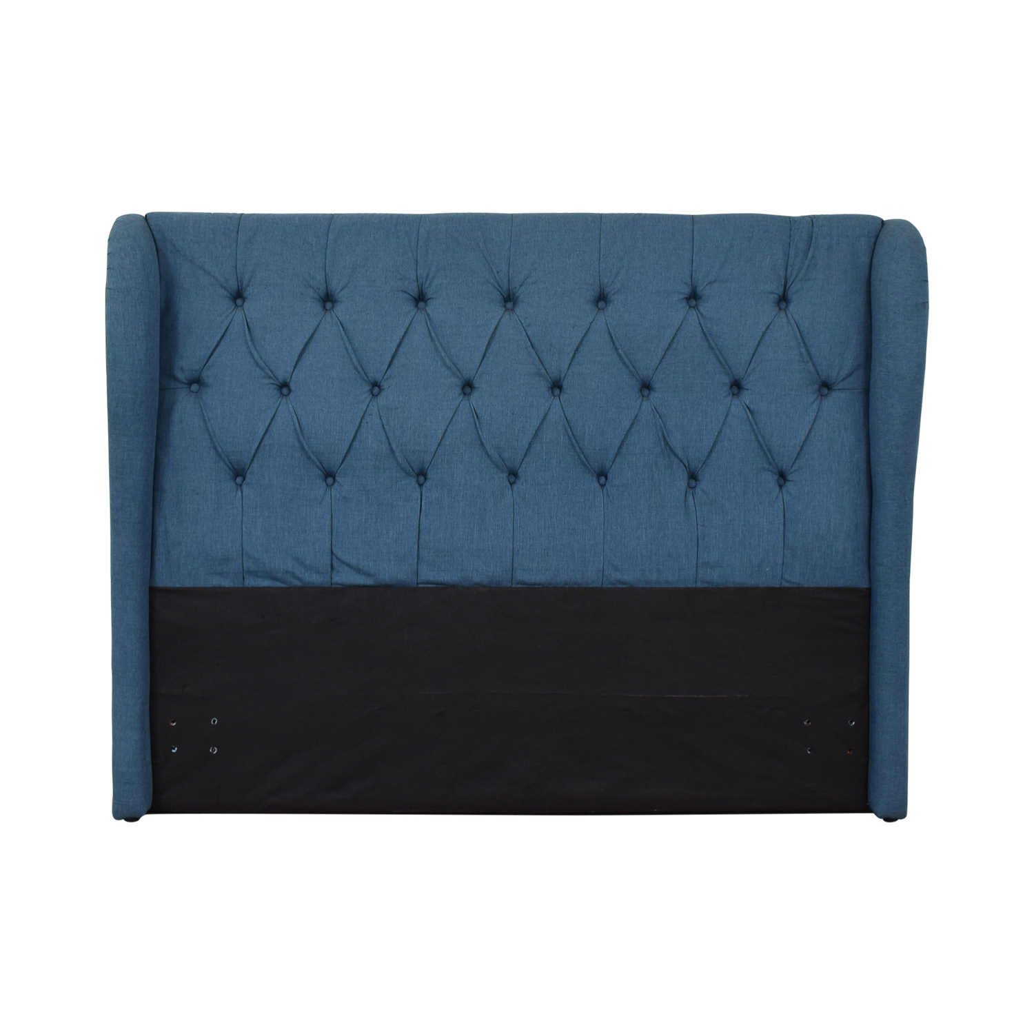 86 Off Blue Upholstered Tufted Queen Headboard Beds
