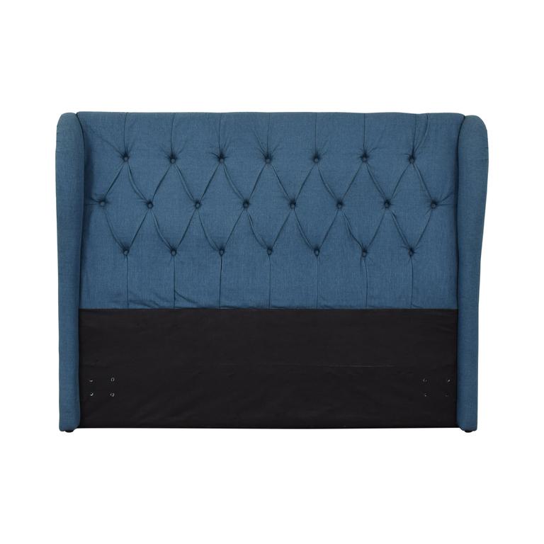 buy  Blue Upolstered Tufted Queen Headboard online