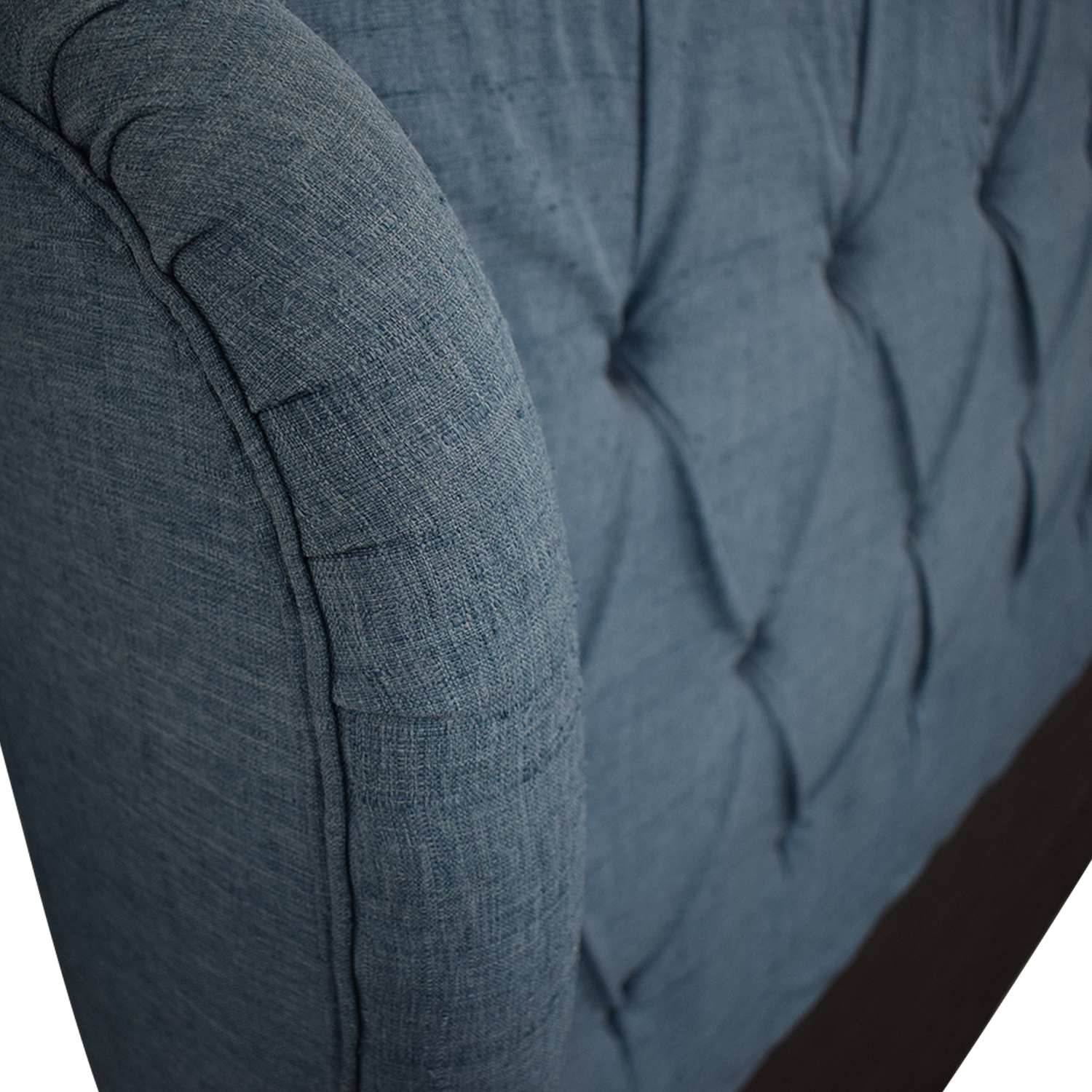 buy  Blue Upolstered Tufted Queen Headboard online