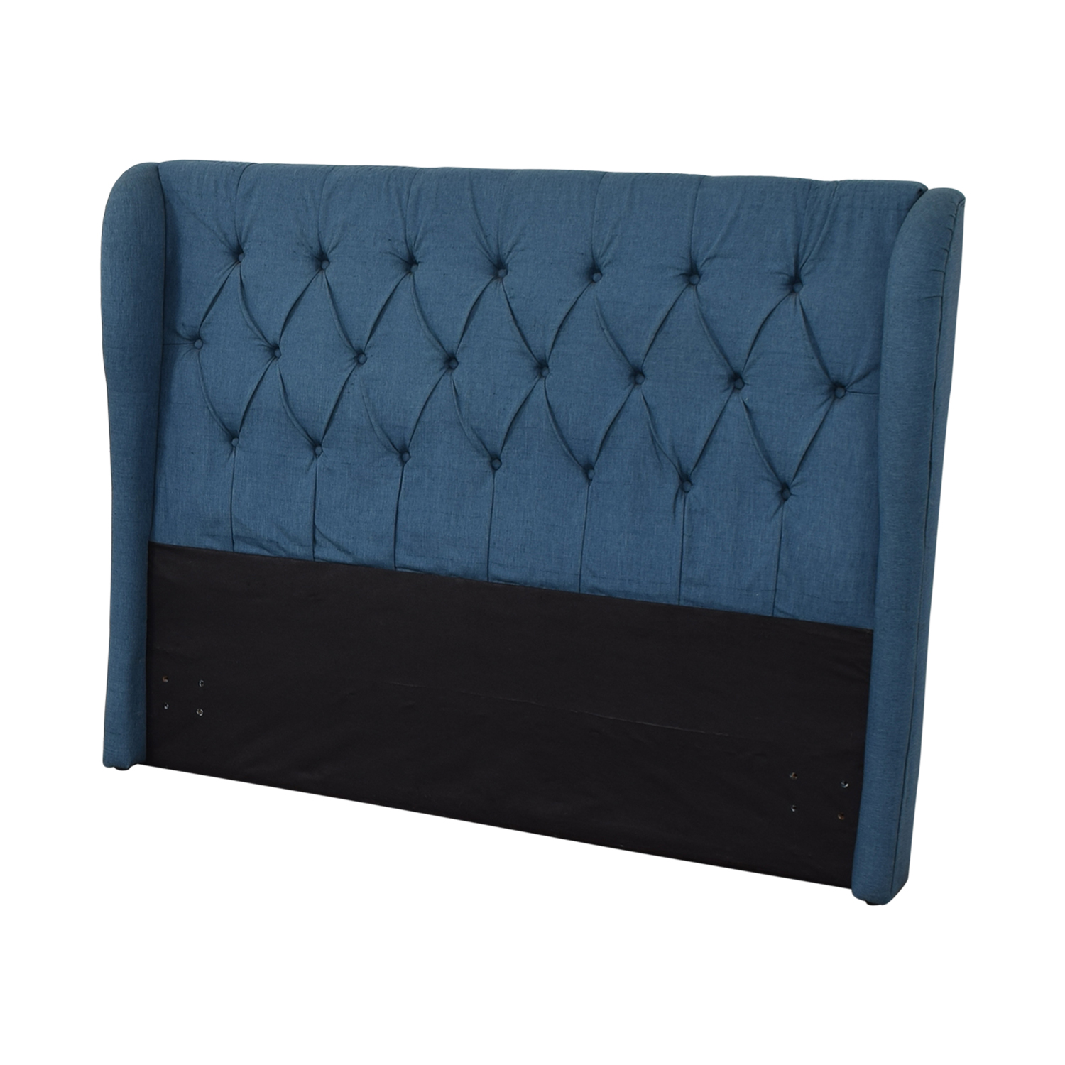 Blue Upolstered Tufted Queen Headboard discount