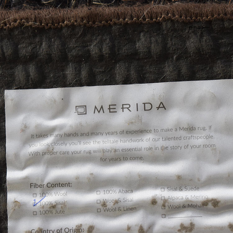 Merida Merida Dark Gray Rug for sale
