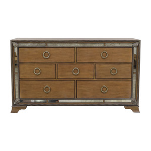 Home Meridian Home Meridian Karissa Wood and Mirrored Seven-Drawer Dresser discount