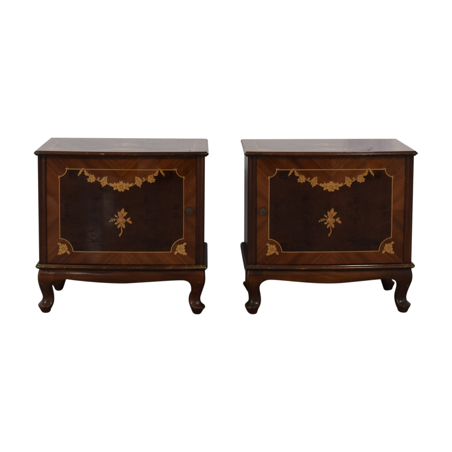 Roma Furniture Roma Furniture Wood Storage End Tables second hand
