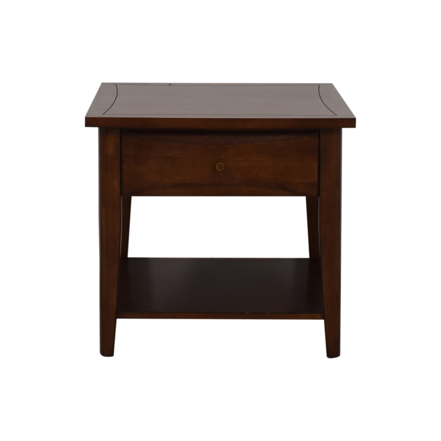 Coaster Fine Furniture Coaster Single Drawer Broad End Table brown