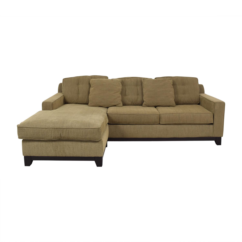 shop Jonathan Lewis Brown Sectional Sofa Jonathan Louis