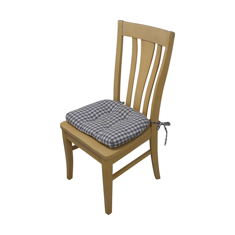 buy Bassett Furniture Blonde Wood Dining Set with Seat Cushions Bassett Furniture