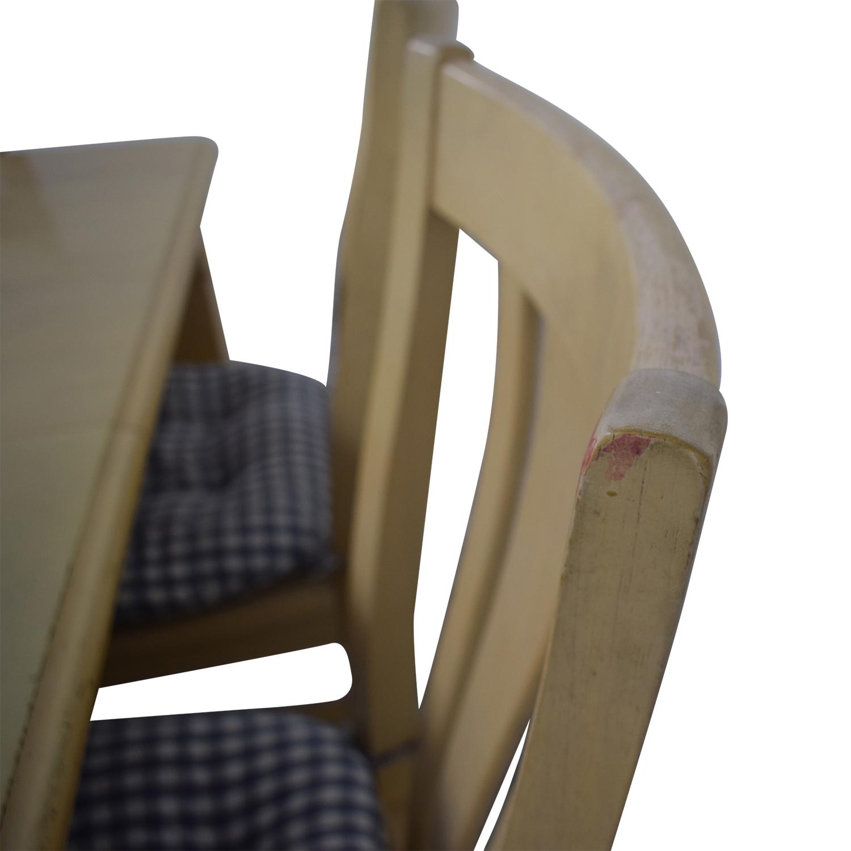 Bassett Furniture Bassett Furniture Blonde Wood Dining Set with Seat Cushions nyc
