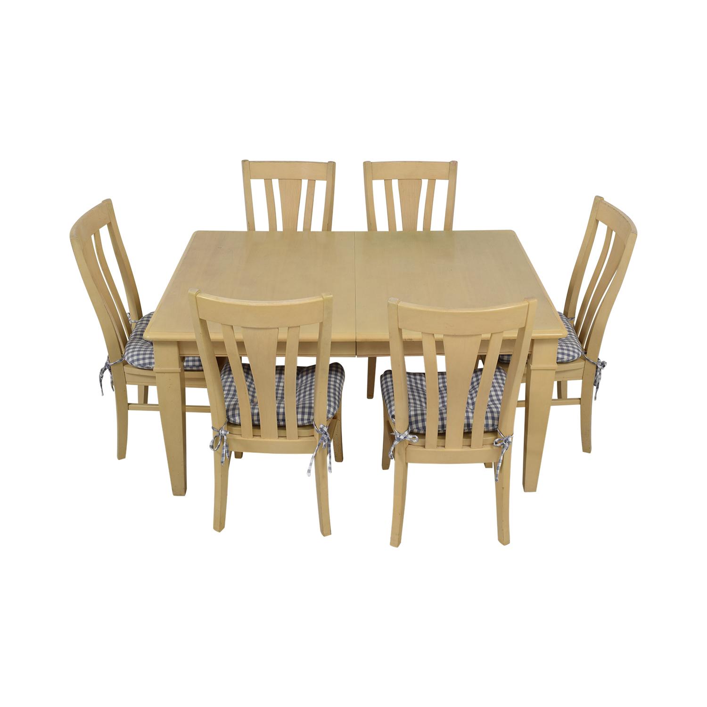 69 Off Bassett Furniture Bassett Furniture Blonde Wood Dining Set