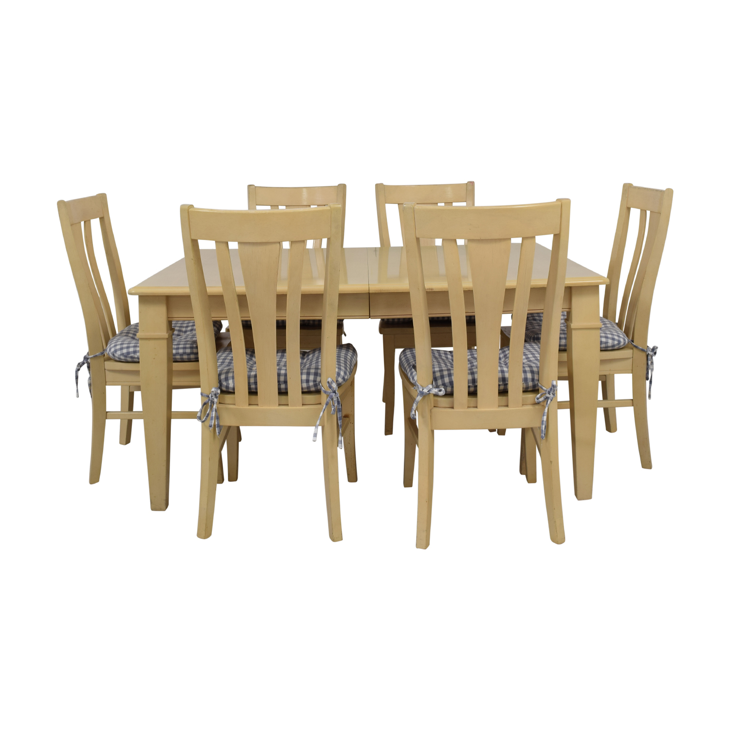 Bassett Furniture Blonde Wood Dining Set with Seat Cushions Bassett Furniture