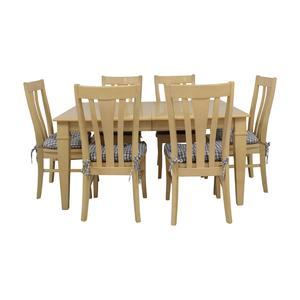 Bassett Furniture Bassett Furniture Blonde Wood Dining Set with Seat Cushions price