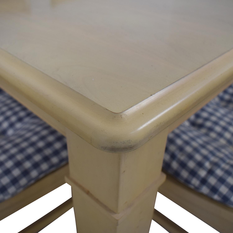 Bassett Furniture Bassett Furniture Blonde Wood Dining Set with Seat Cushions Dining Sets