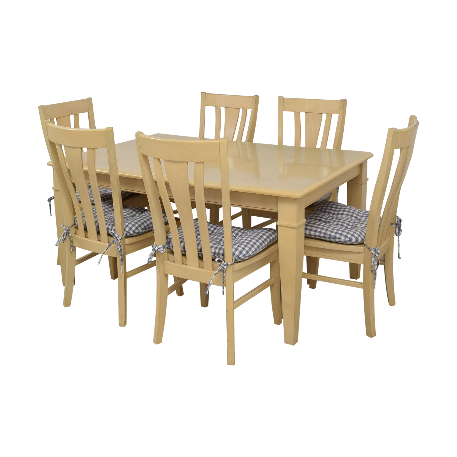 Bassett Furniture Blonde Wood Dining Set with Seat Cushions / Dining Sets