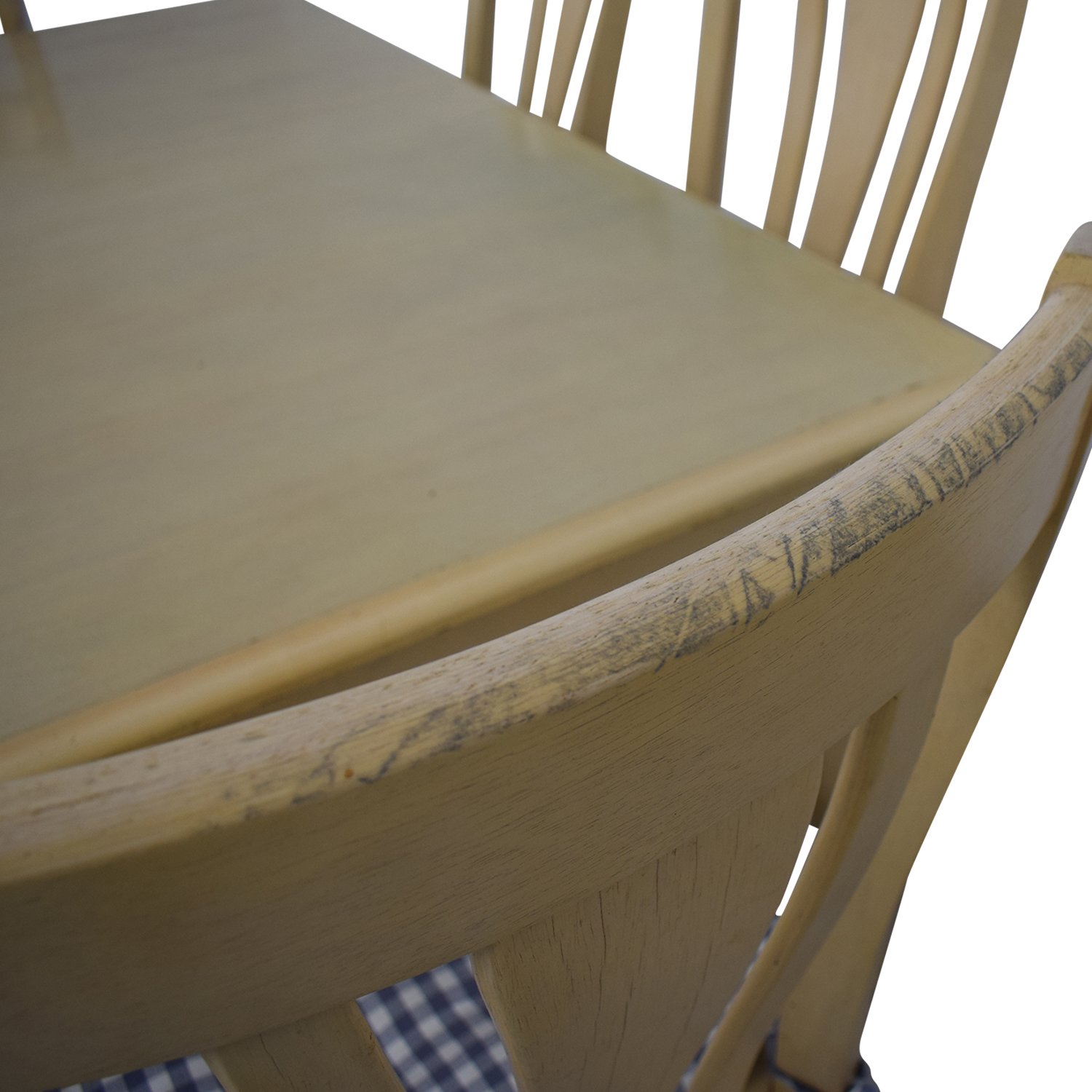 Bassett Furniture Blonde Wood Dining Set with Seat Cushions / Tables