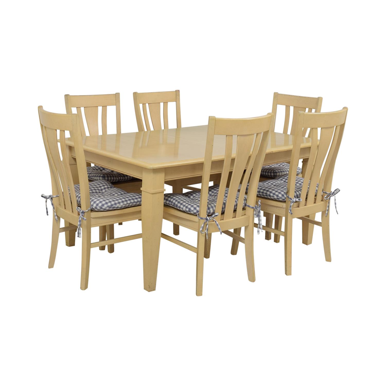 shop Bassett Furniture Bassett Furniture Blonde Wood Dining Set with Seat Cushions online