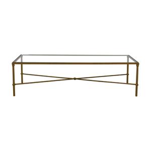 shop Rectangular Metal and Glass Coffee Table