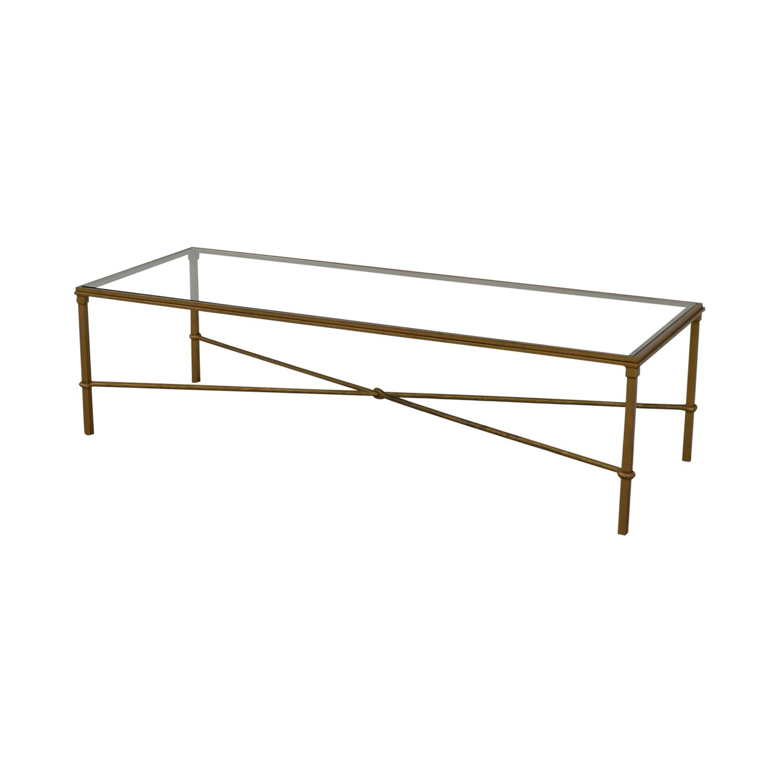 Rectangular Metal and Glass Coffee Table used