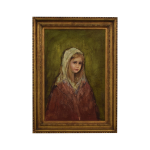 Young Girl Crying Signed Oil Painting coupon