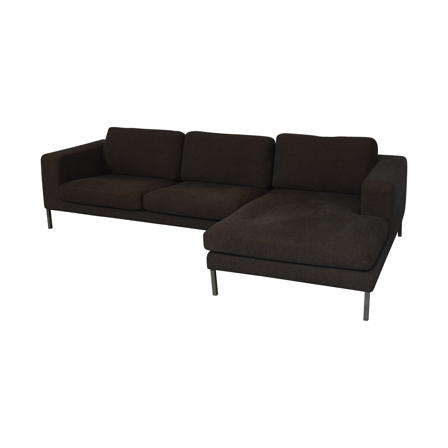 Design Within Reach Design Within Reach Bensen Neo Grey Chaise Sectional dimensions