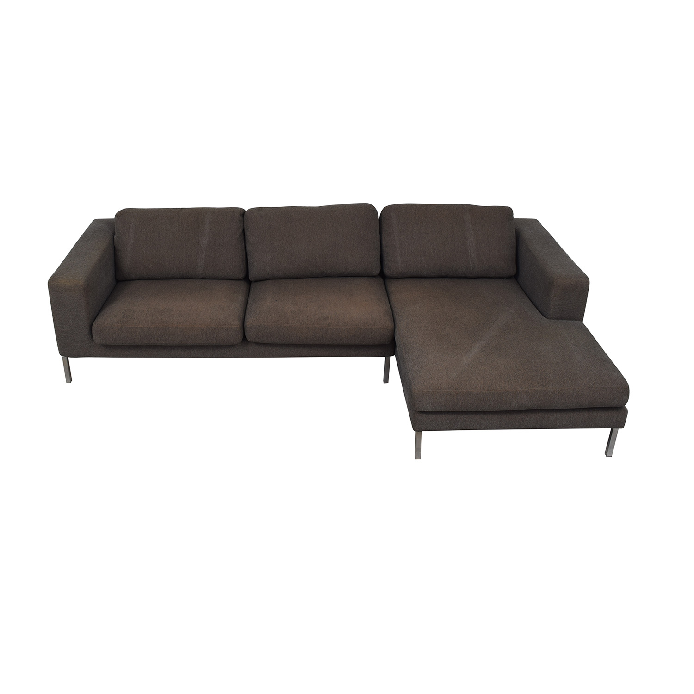 Design Within Reach Design Within Reach Bensen Neo Grey Chaise Sectional discount