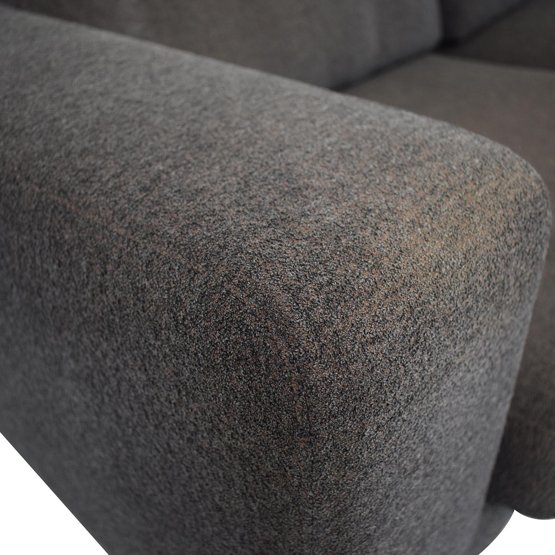Design Within Reach Bensen Neo Grey Chaise Sectional / Sofas