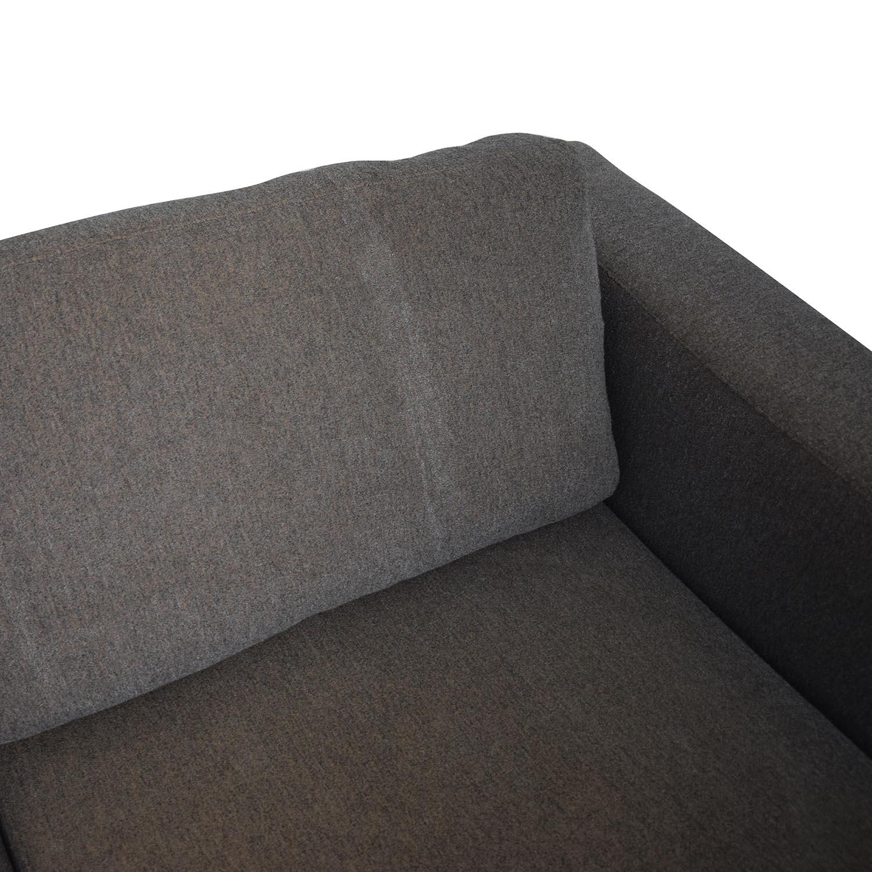buy Design Within Reach Bensen Neo Grey Chaise Sectional Design Within Reach