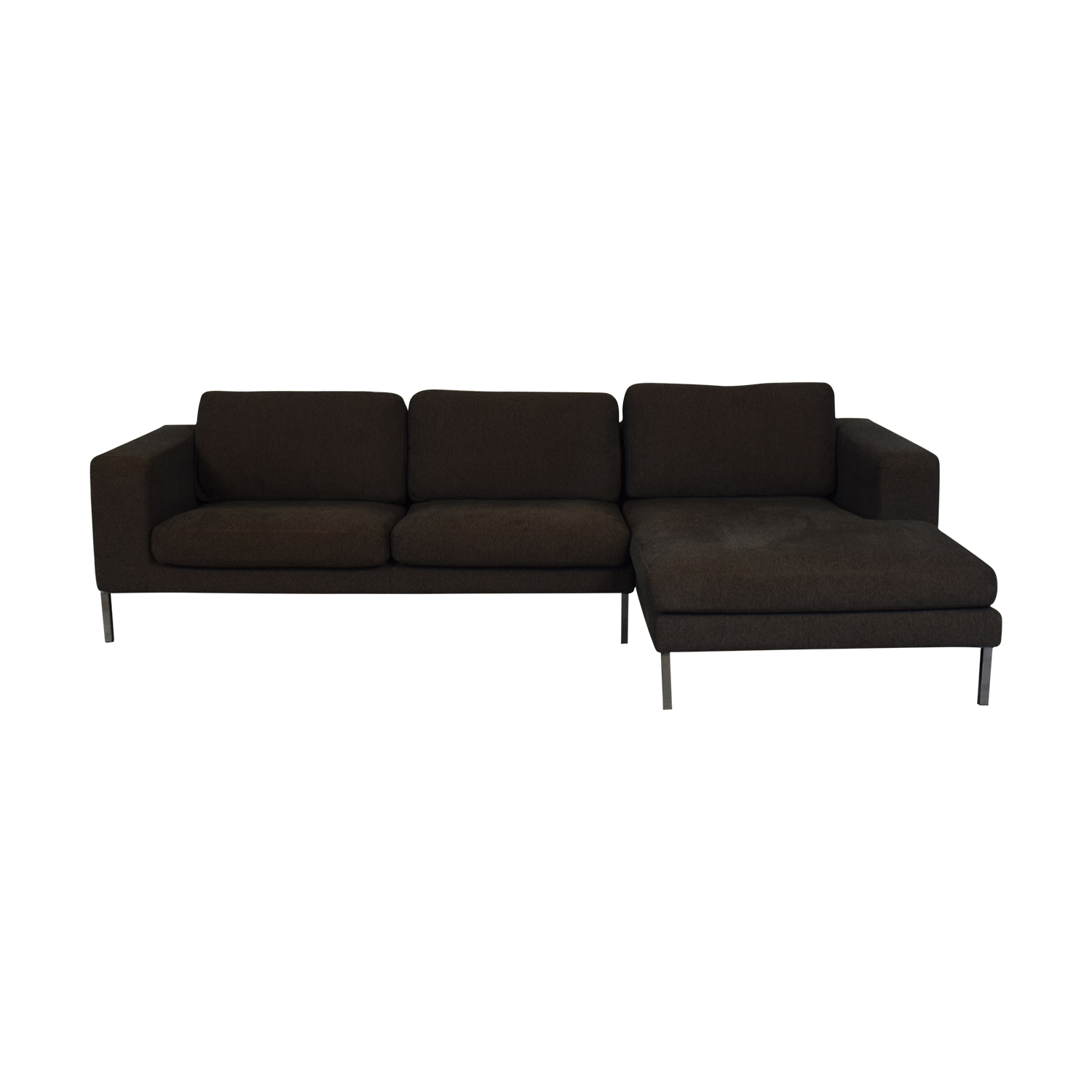 shop Design Within Reach Bensen Neo Grey Chaise Sectional Design Within Reach Sectionals