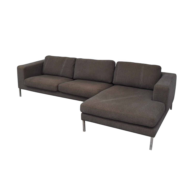 shop Design Within Reach Bensen Neo Grey Chaise Sectional Design Within Reach Sofas