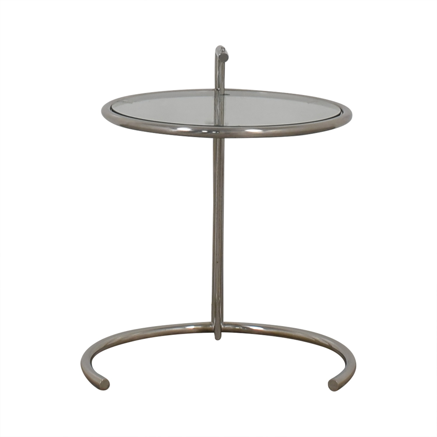 buy Eileen Gray Style Glass and Chrome Round End Table  End Tables