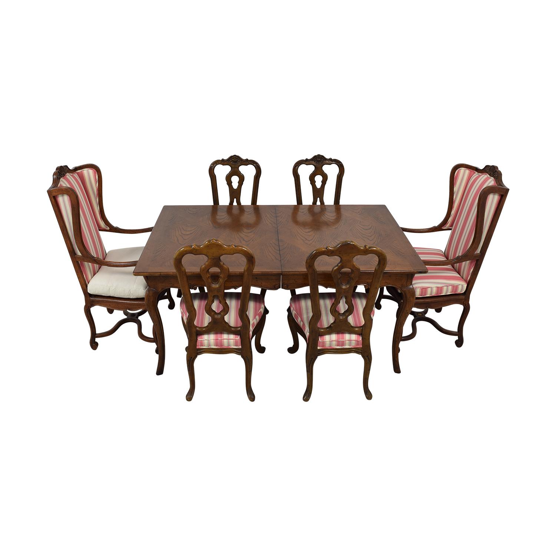 shop Hekman Furniture Upholstered Dining Set Hekman Furniture