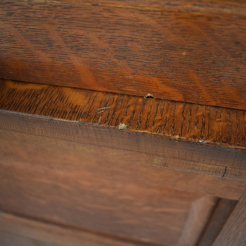 Eight-Drawer Wood Desk sale