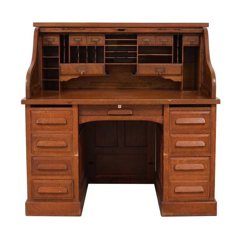 Eight-Drawer Wood Desk dimensions