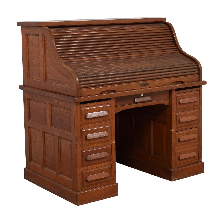 Eight-Drawer Wood Desk