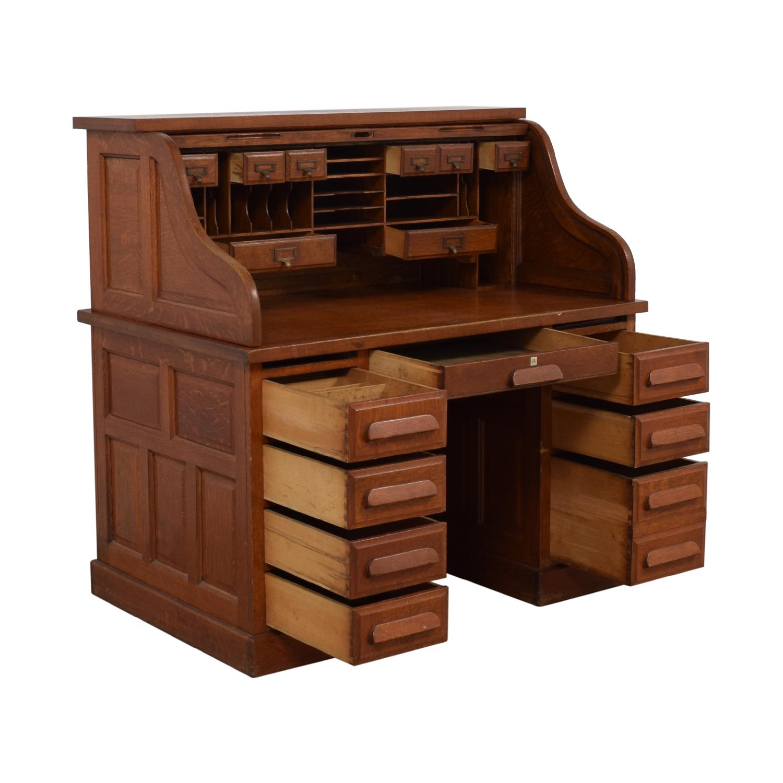 Eight-Drawer Wood Desk nj