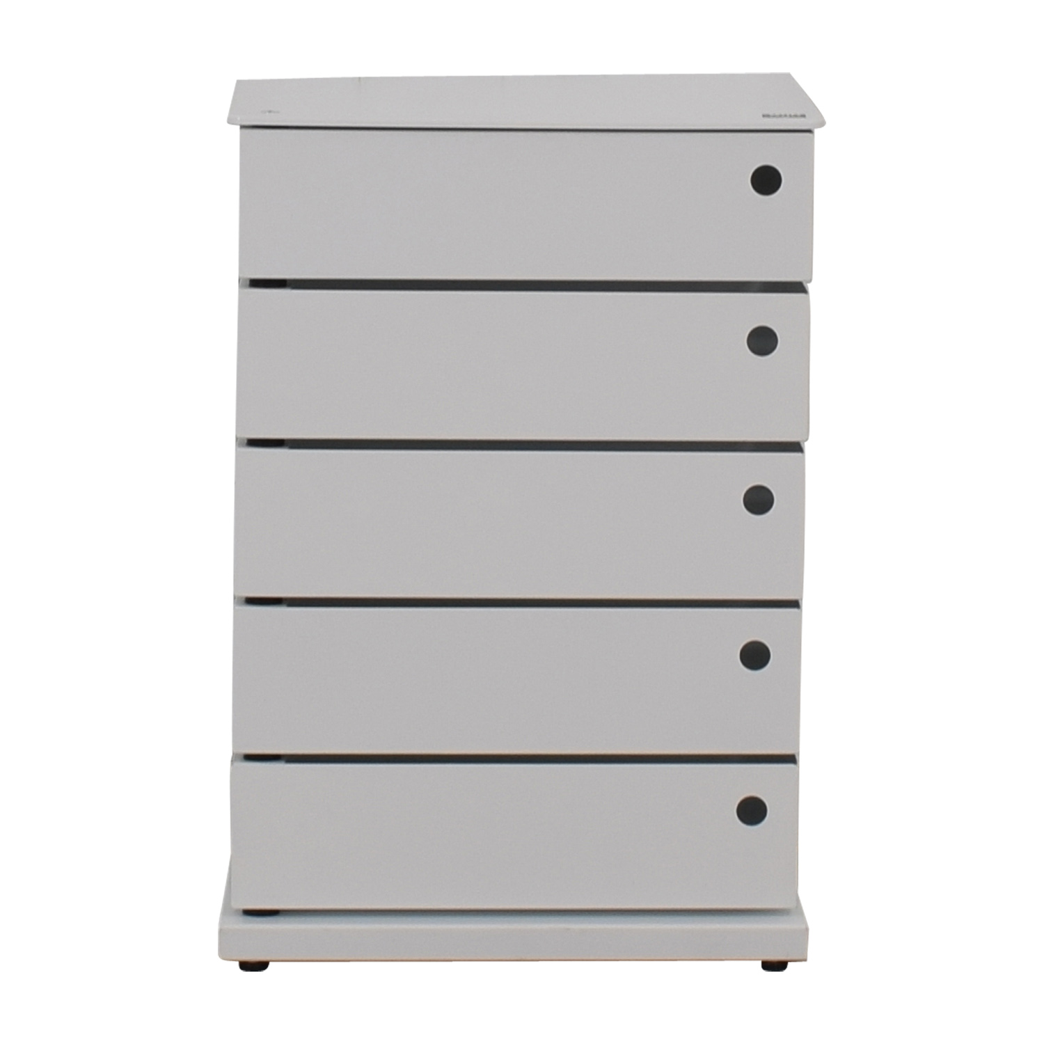buy Dottus White Swivel Five-Drawer Storage Chest Dottus Media Units