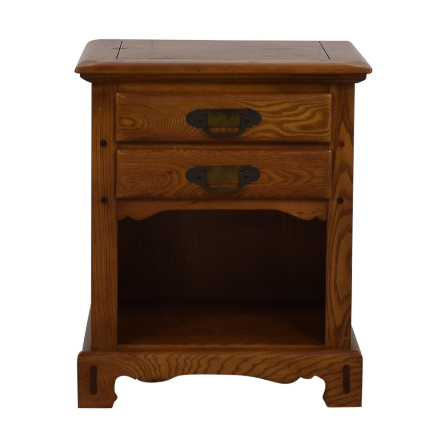 Link-Taylor Link-Taylor Wood Two-Drawer End Table End Tables