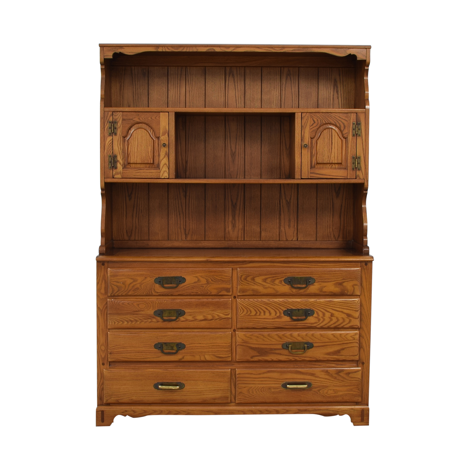 Link-Taylor Link-Taylor Wood Eight-Drawer China Cabinet with Hutch on sale