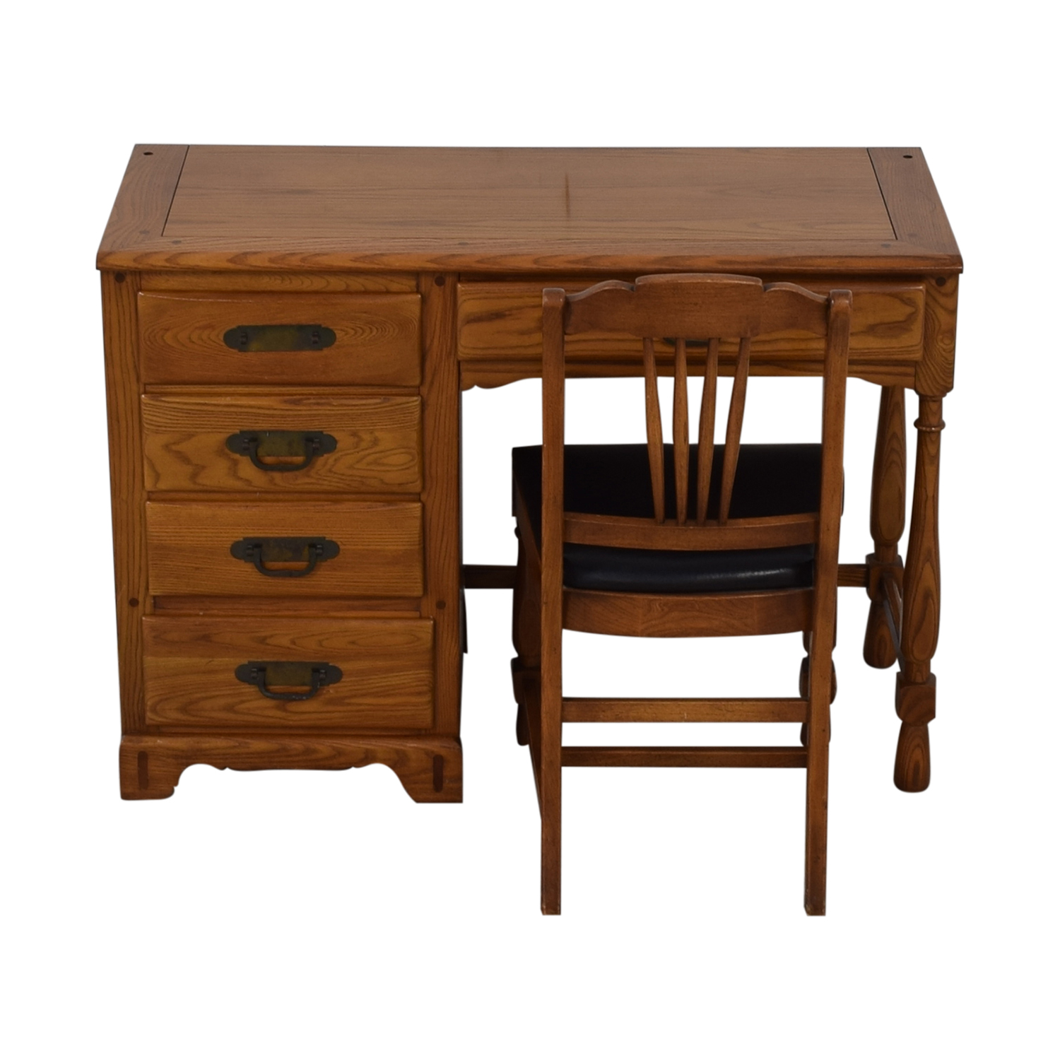 Link-Taylor Link-Taylor Five-Drawer Desk with Chair
