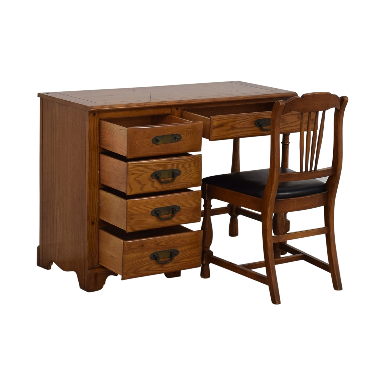 shop Link-Taylor Five-Drawer Desk with Chair Link-Taylor