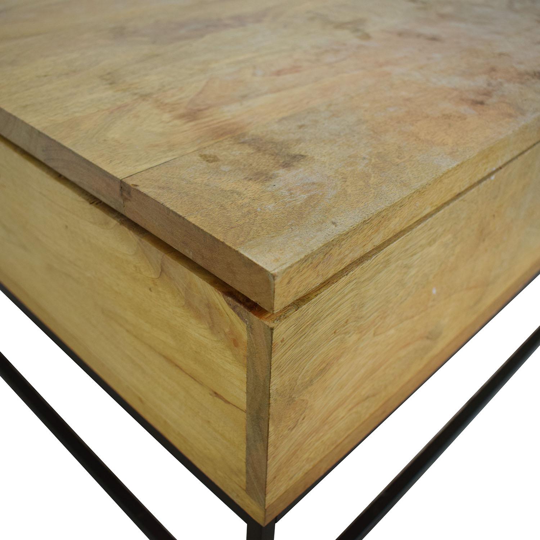 West Elm West Elm Raw Mango Lift-Top Storage Coffee Table Tables