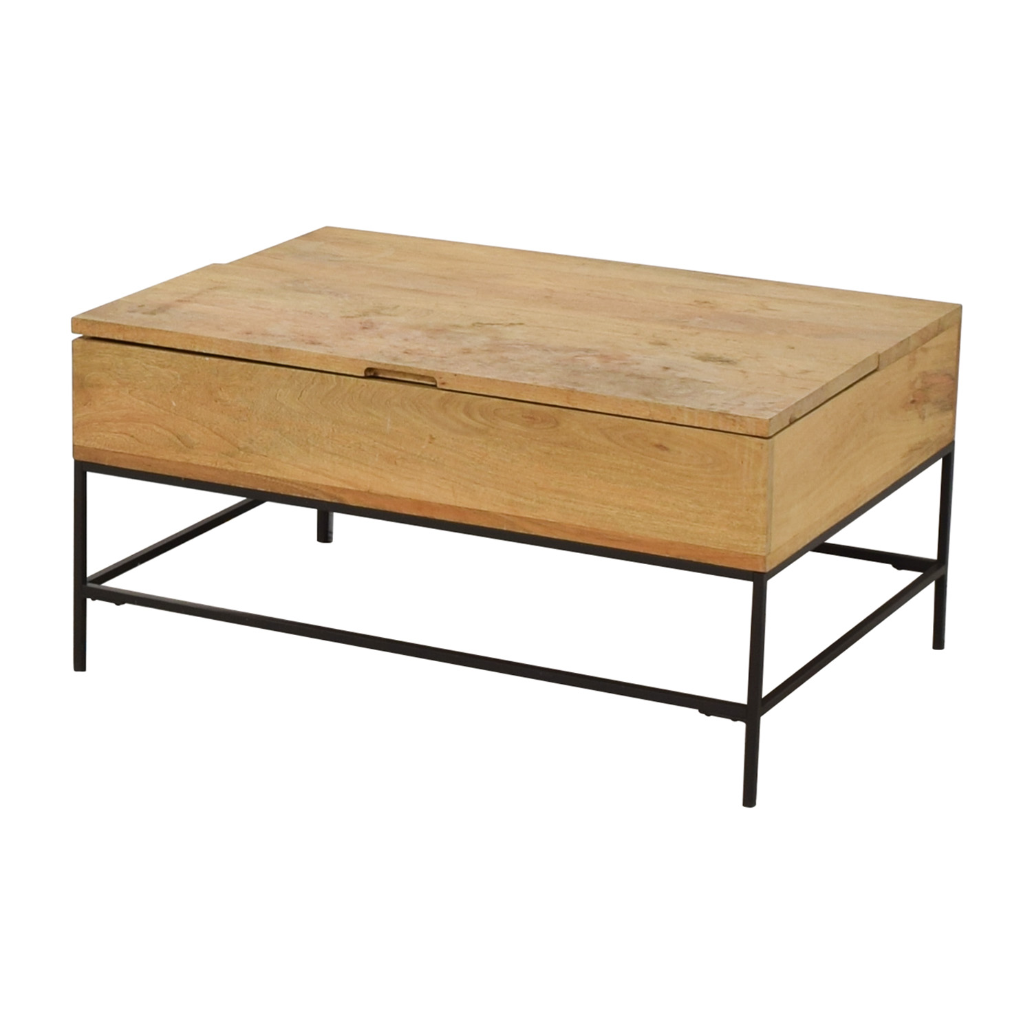 West Elm West Elm Raw Mango Lift-Top Storage Coffee Table Tables