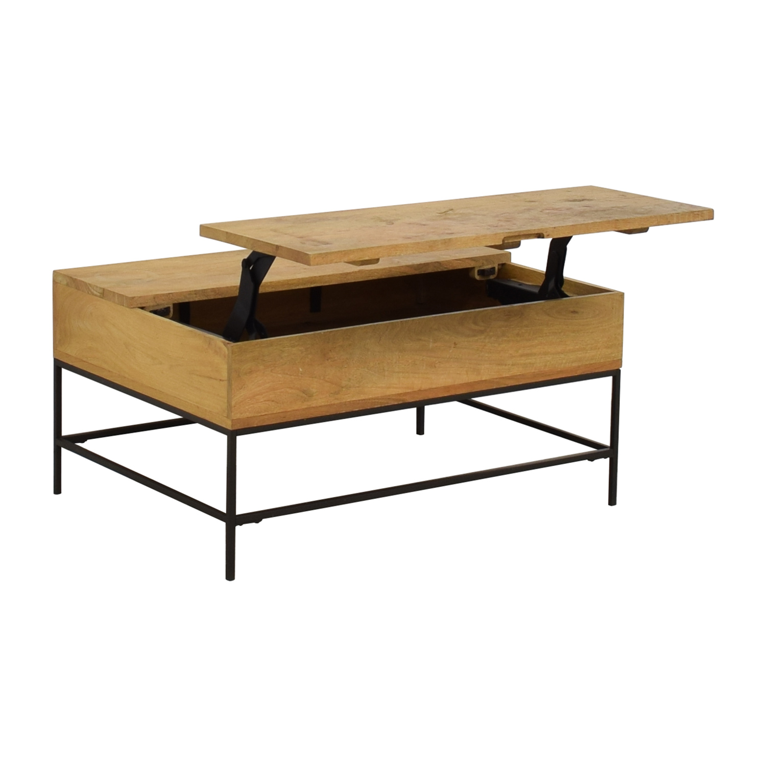 shop West Elm Raw Mango Lift-Top Storage Coffee Table West Elm Coffee Tables