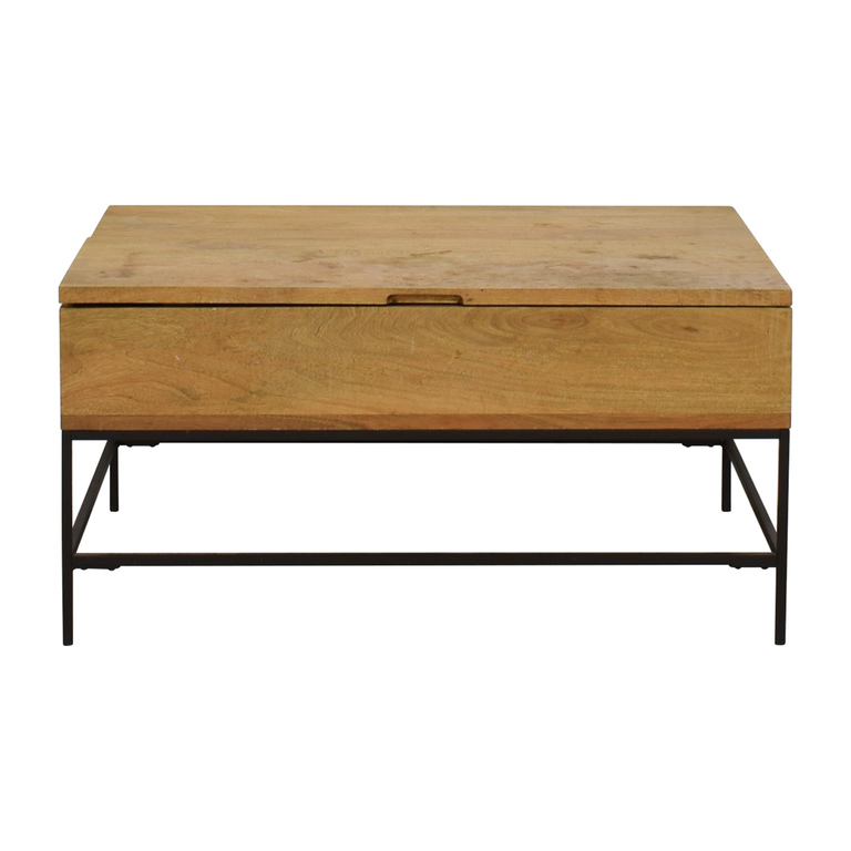 West Elm West Elm Raw Mango Lift-Top Storage Coffee Table for sale