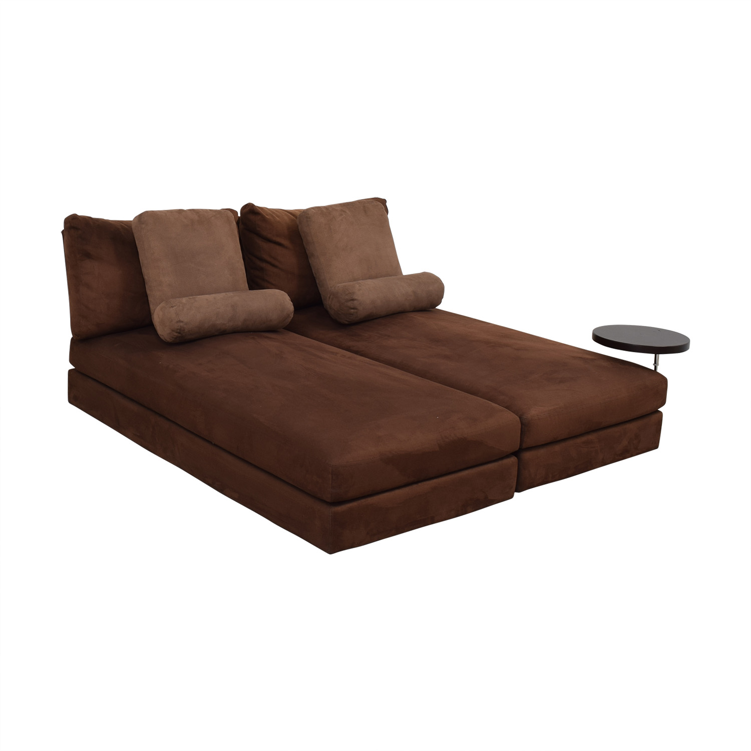 King Furniture Suede Chaise Sectional second hand