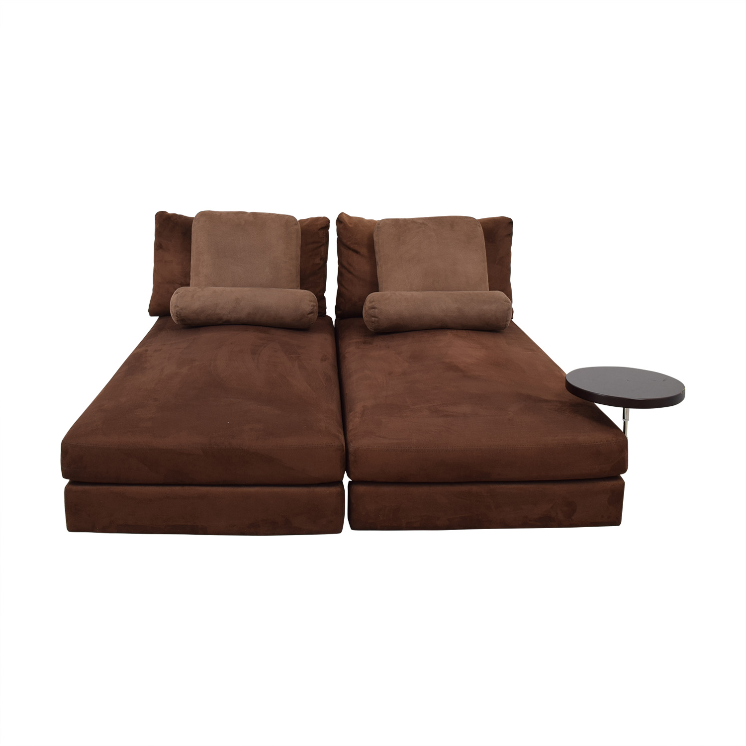 90 Off King Furniture Suede Chaise Sectional Sofas