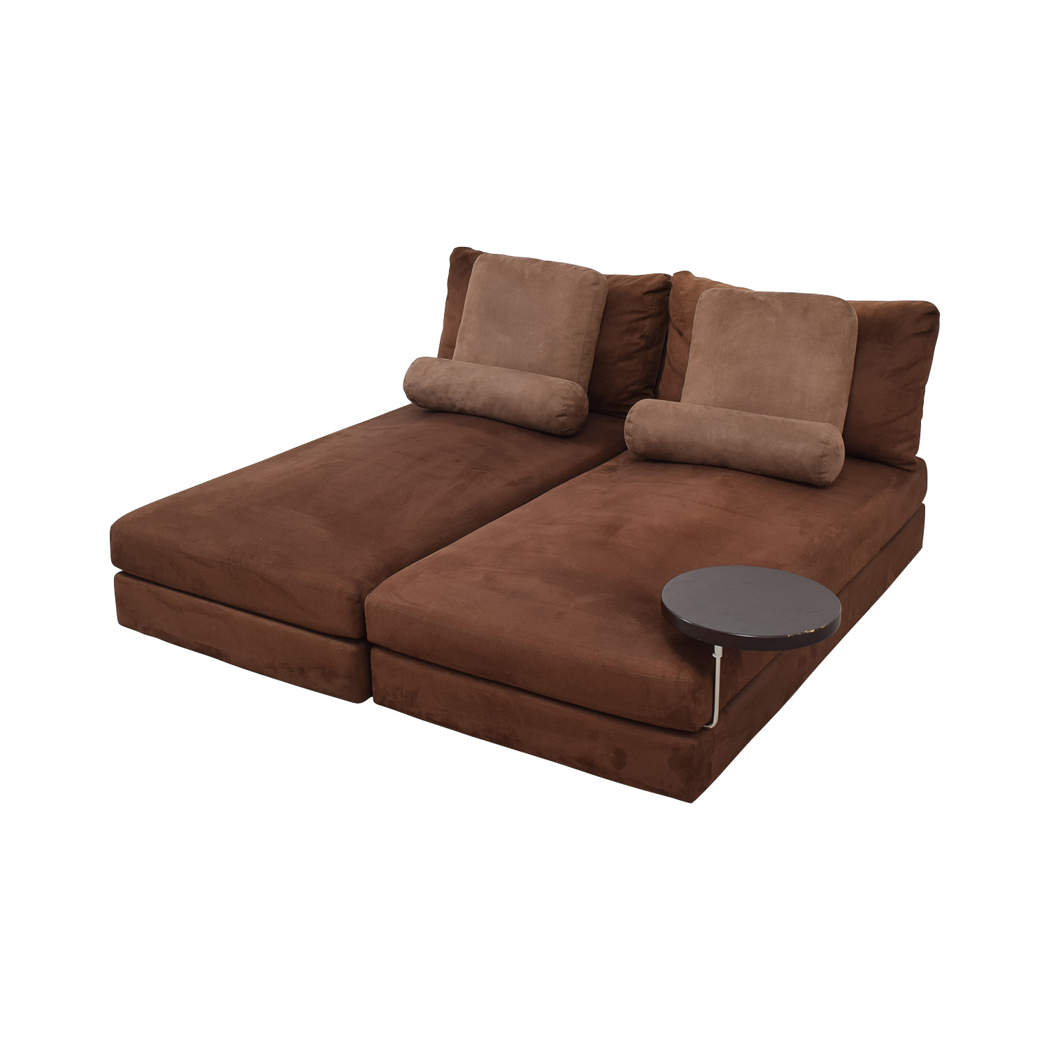 King Furniture Suede Chaise Sectional nyc