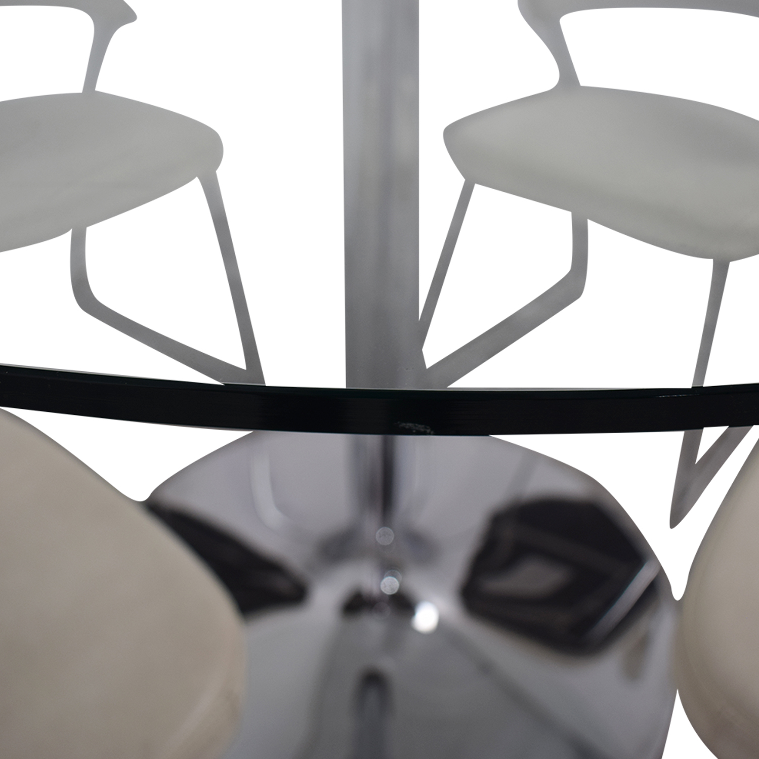 shop Calligaris Planet Glass Dining Table with Calligaris New York  Chairs Calligaris