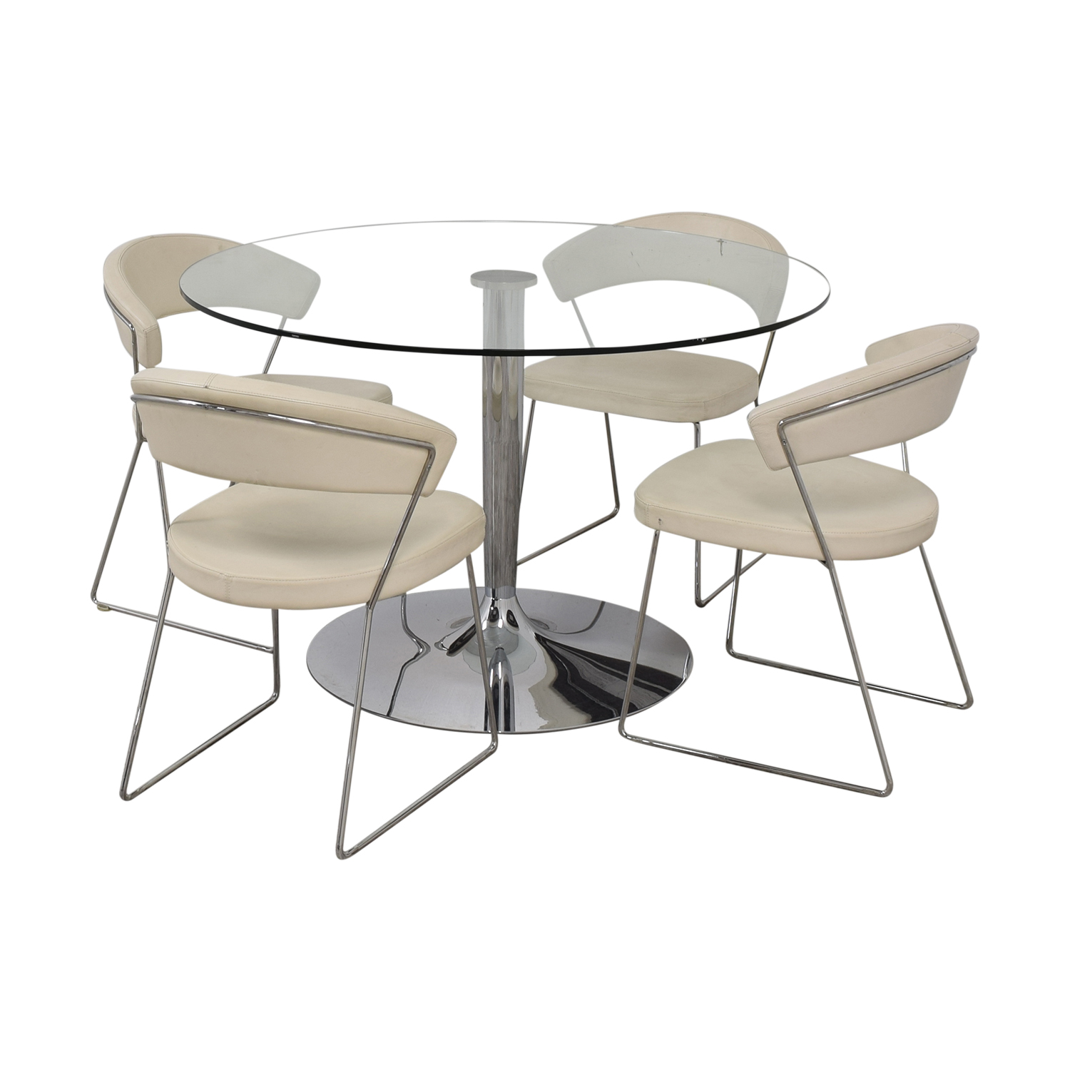 Calligaris Calligaris Planet Glass Dining Table with Calligaris New York  Chairs price