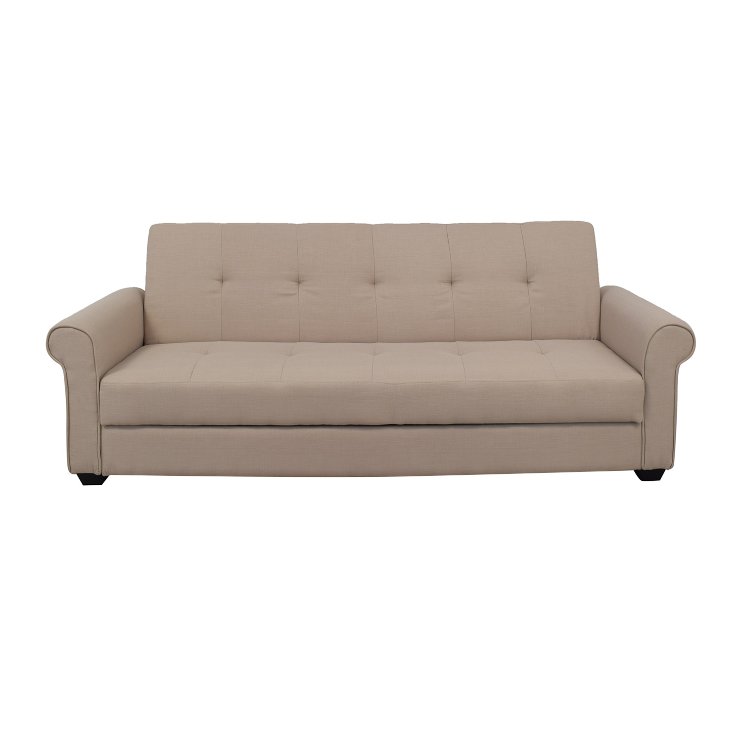 Wayfair Wayfair Latitude Run Garry Beige Tufted Covertible Sofa used
