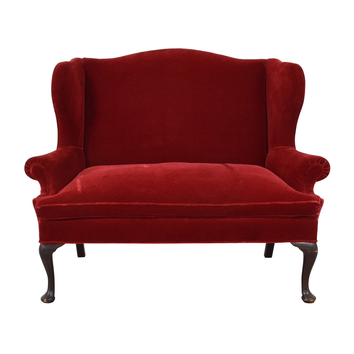 63% OFF - Frederick Edward Frederick Edward Red Loveseat or Settee / Sofas