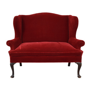 Frederick Edward Frederick Edward Red Loveseat or Settee for sale